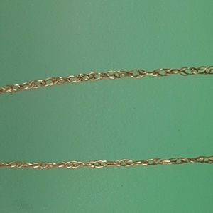 """Jewelry - Estate 10k yellow gold tiny chain necklace 18"""""""